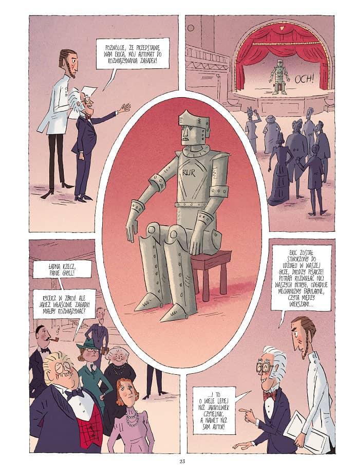 Przykładowa plansza - komiks Klub detektywów