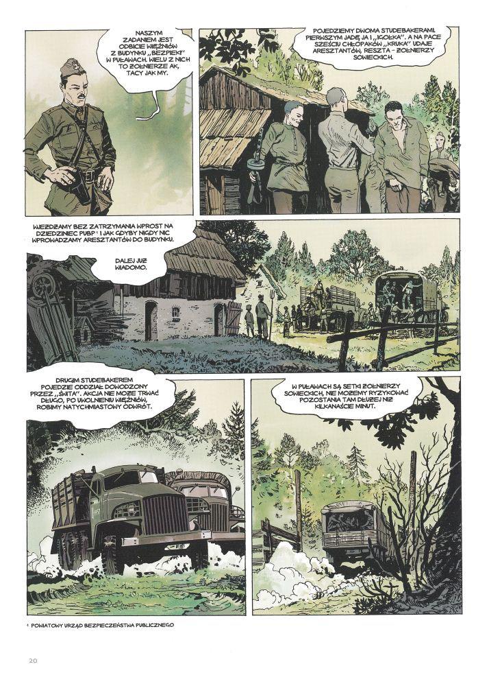 """Wilcze Tropy tom 2 – """"Orlik"""", recenzja komiksu przykładowa plansza"""