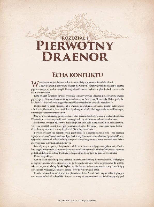 World of Warcraft Kronika Tom 2 przykładowa strona