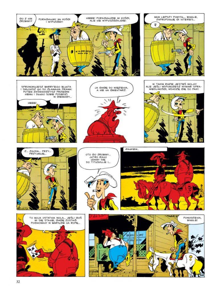 Lucky Luke – W cieniu wież wiertniczych. Przykładowa plansza