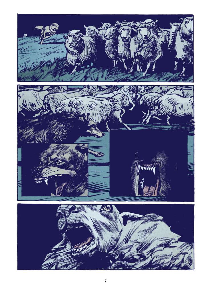 Wilk - przykładowa plansza