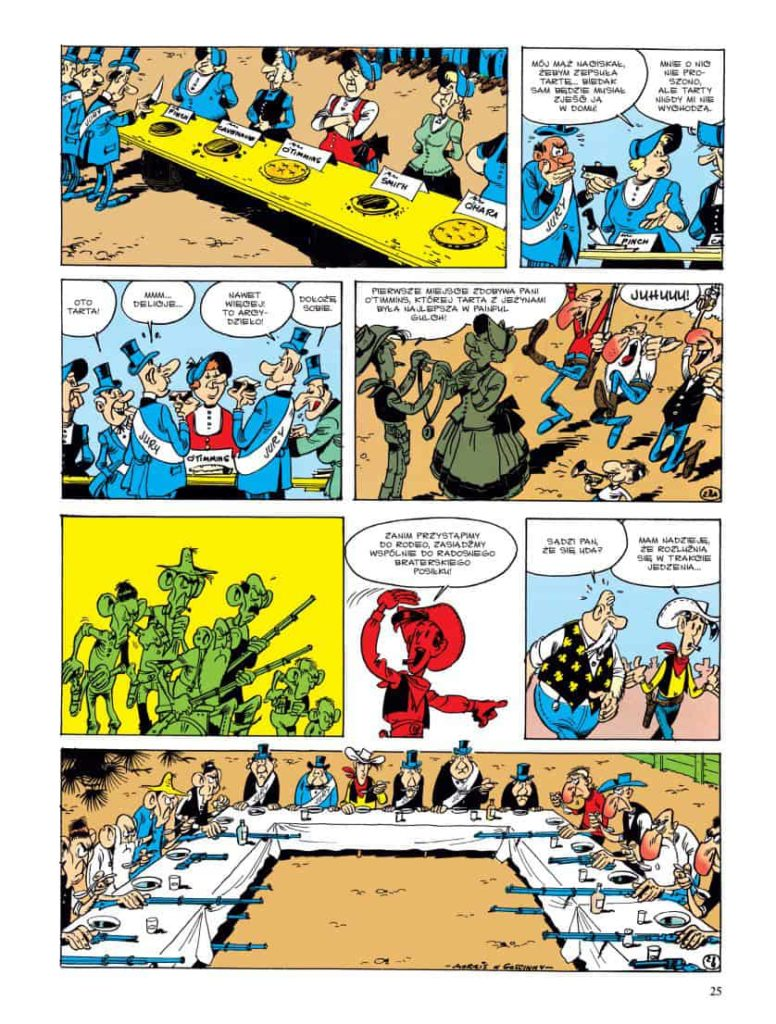Przykładowa plansza Lucky Luke: Rywale z Painful Gulch