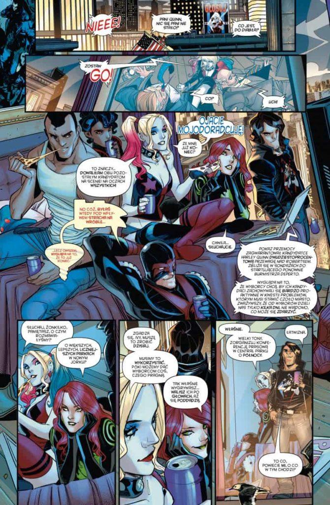 Przykładowa plansza - Harley Quinn. Głosuj na Harley. Tom 5