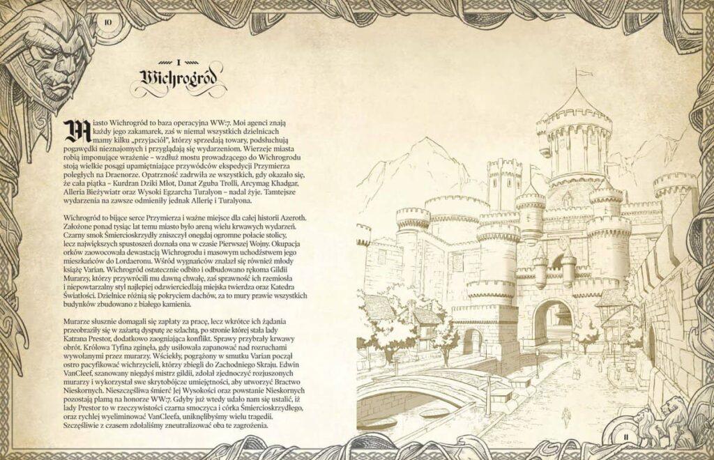 Przykładowa strona Podróż przez Azeroth: Wschodnie królestwa