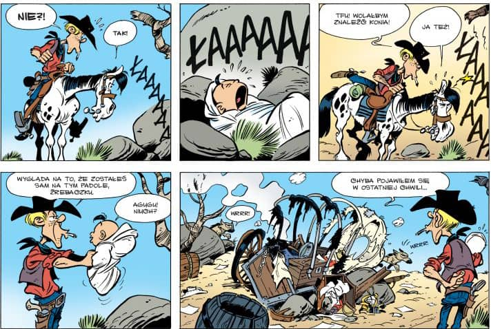 Kid Lucky #1 Uczeń kowboja - rysunek 1