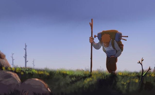 Światła północy W dolinie trolli - rysunek 1