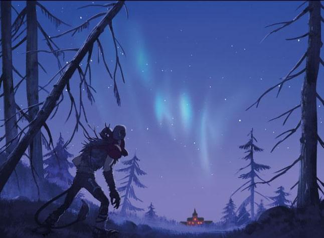 Światła północy W dolinie trolli - rysunek 2