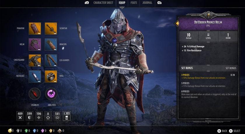 Dungeons & Dragons Dark Alliance - wyposażenie