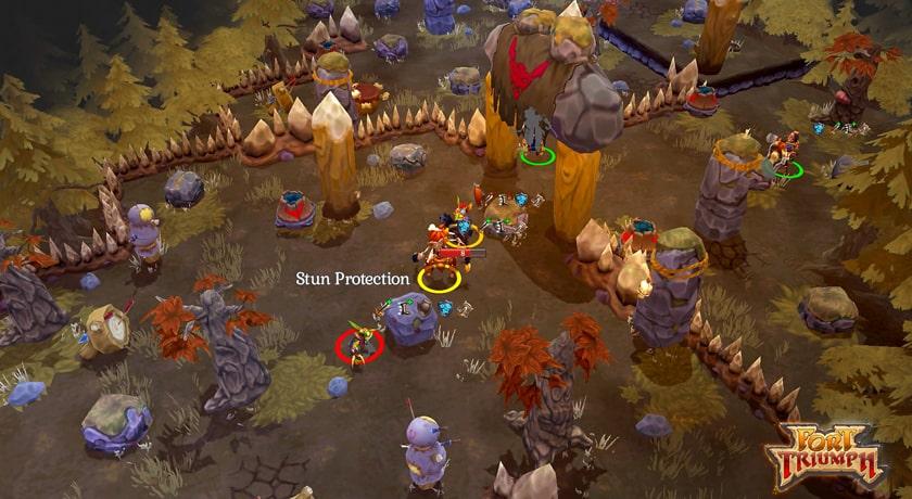 Fort Triumph - mapa taktyczna walki